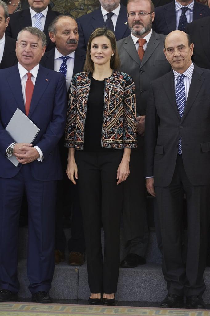 Queen Letizia's Statement Jackets
