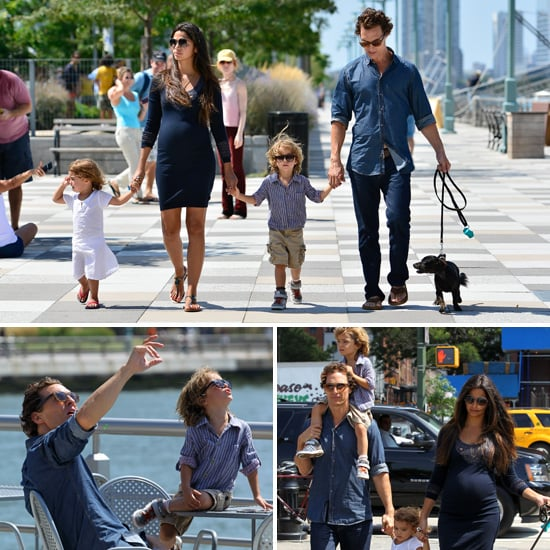 Matthew McConaughey, Camila and Their Kids Stroll Hand-in-Hand in Tribeca