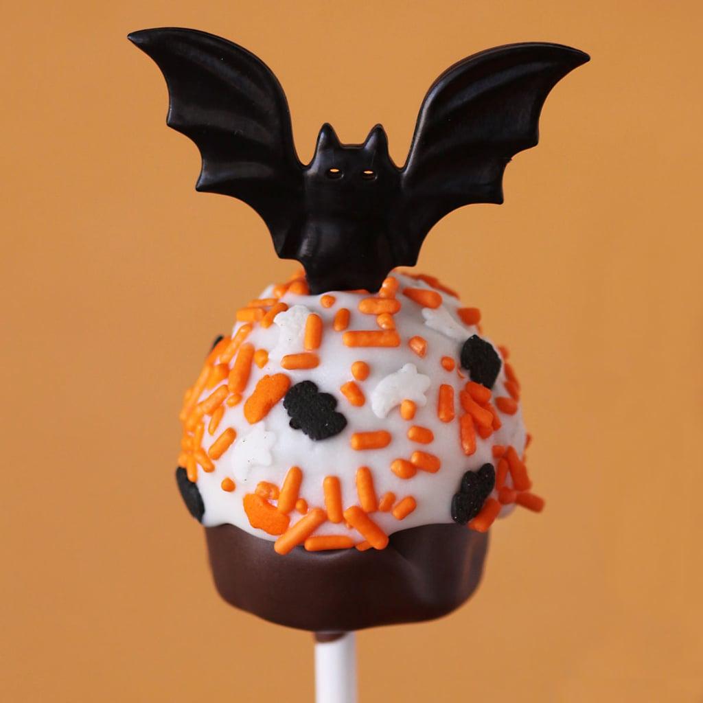 Bat-Topped Cupcake Pops