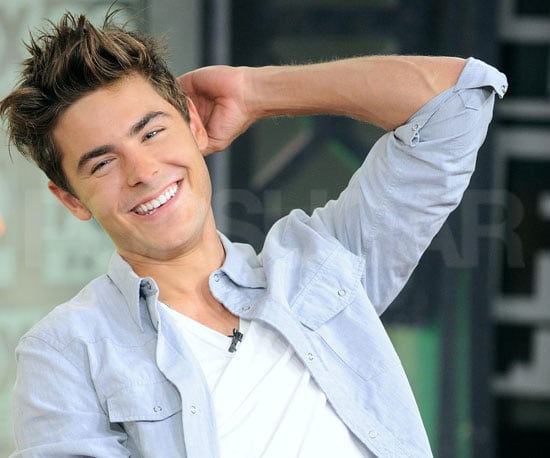 Slide Picture of Zac Efron on Good Morning Philadelphia