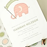 Girl Baby Shower Invitation: Pink Elephant ($20 For 10)