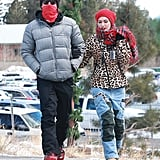 Gwen Stefani and Gavin Rossdale walked arm in arm through the streets of Mammoth, CA, during a day of skiing on Tuesday.