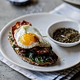 Bacon, Egg, and Creamed Spinach Breakfast Toast