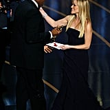 Reese Witherspoon presented Forest Whitaker with the award for best actor in a leading role for his performance in The Last King of Scotland.