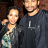 Kerry Washington and Nnamdi Asomugha at a Production of Hamilton in 2015
