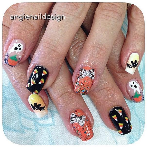 Creepy Cartoons | Halloween Nail Art Ideas | POPSUGAR Beauty ...
