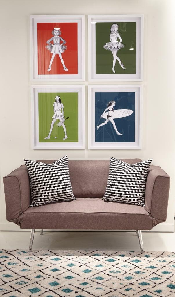 Girls — Cheerleader Decorative Wall Art Framed ($46) Girls — Ballerina Decorative Wall Art Framed ($46) Tennis Girl Decorative Wall Art Framed ($46) Surfer Girl Decorative Wall Art Framed ($46)