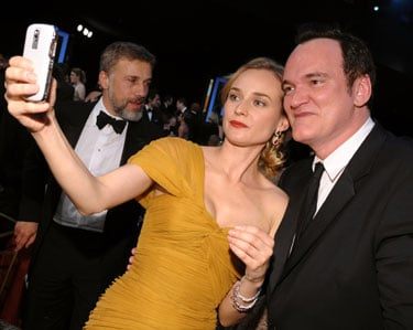 Diane Kruger's White BlackBerry Bold 9000 at the Screen Actors Guild Awards