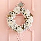Snowy White and Bronze Wreath