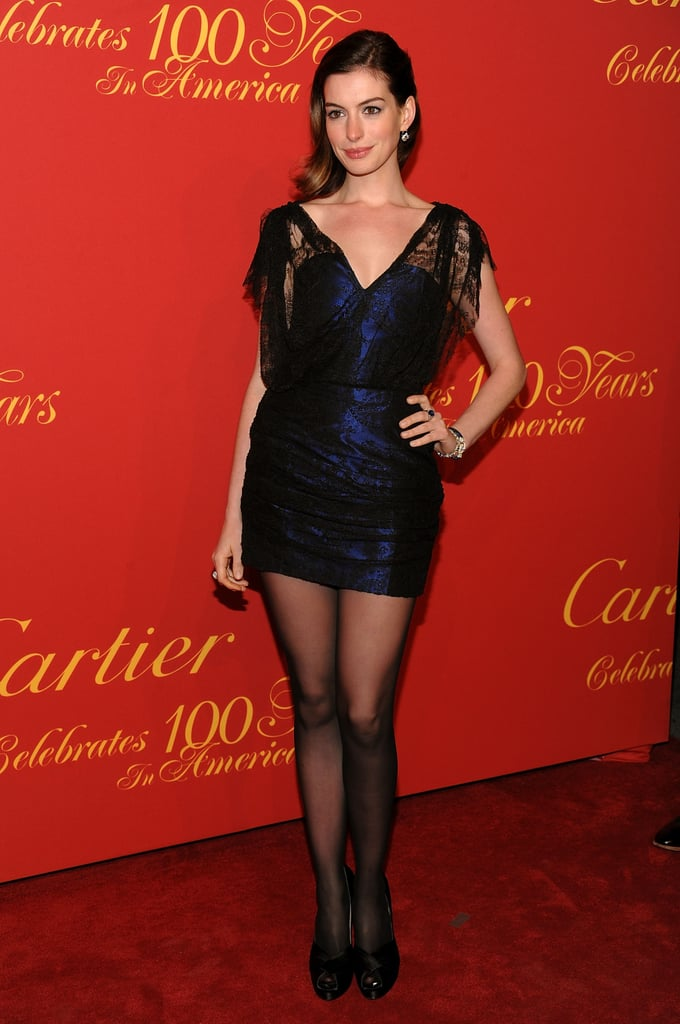 Anne starts experimenting with shorter hemlines in 2009.
