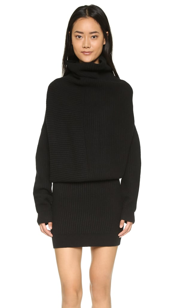 I never thought I would use the words sexy and sweater dress in the same sentence, but here I am. This cozy Acne ribbed knit dress ($600) is fitted and slouchy in all of the right places. And think of all of the styling possibilities once the temperature really drops. — MC