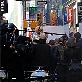Caught on set: Rita Ora for DKNY. Source: Instagram user donnakarandkny