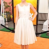 Taylor Swift posed on the orange carpet before going into the screening of The Lorax.