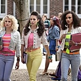 Working coloured jeans, neon belts, and cropped denim jackets, it's clear this threesome is fearless when it comes to fashion. Source: The CW