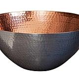 Dimpled Metal Bowl ($49)