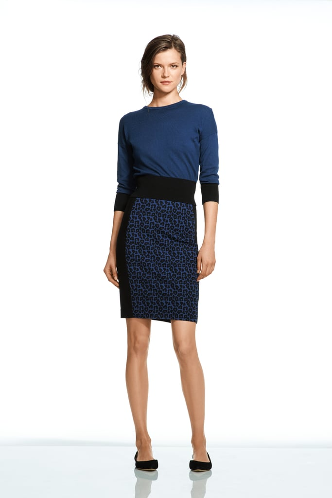 Roland Mouret For Banana Republic Leopard Pencil Skirt
