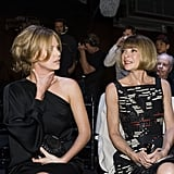 Charlize Theron caught up with Anna Wintour at Dior in Paris in May 2007.