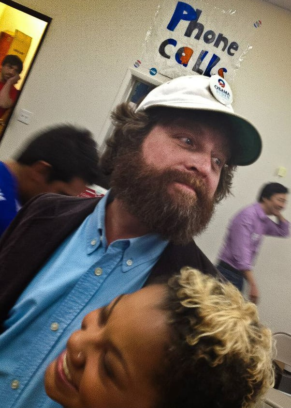 Zach Galifianakis attended an Obama event in Las Vegas.  Source: Facebook user Obama For America