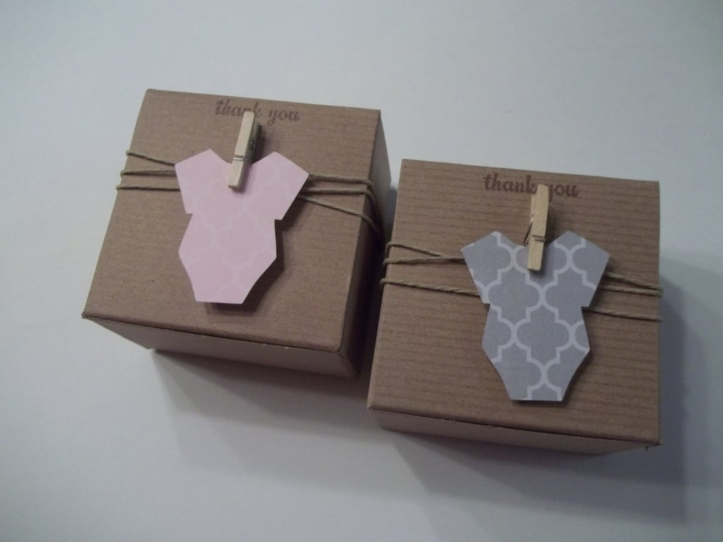 Eco-Friendly Onesie Favor Boxes
