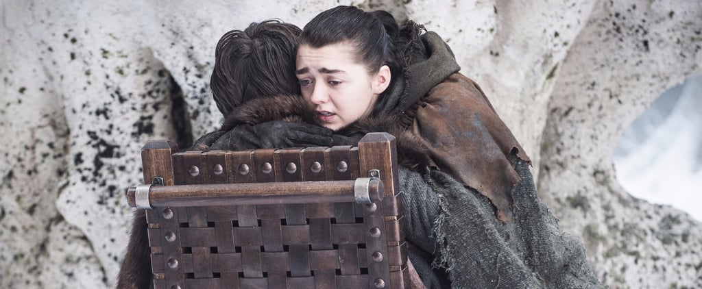 Arya hugs Bran