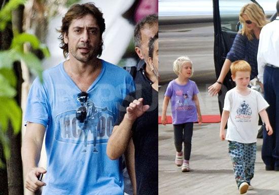 Photos of Javier Bardem in Bali Filming Eat Pray Love; Julia Roberts With Kids Hazel and Phinnaeus Moder