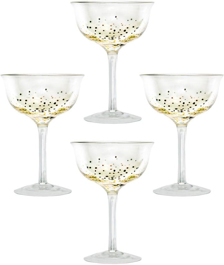 Dot & Bo Glitter Champagne Coupes