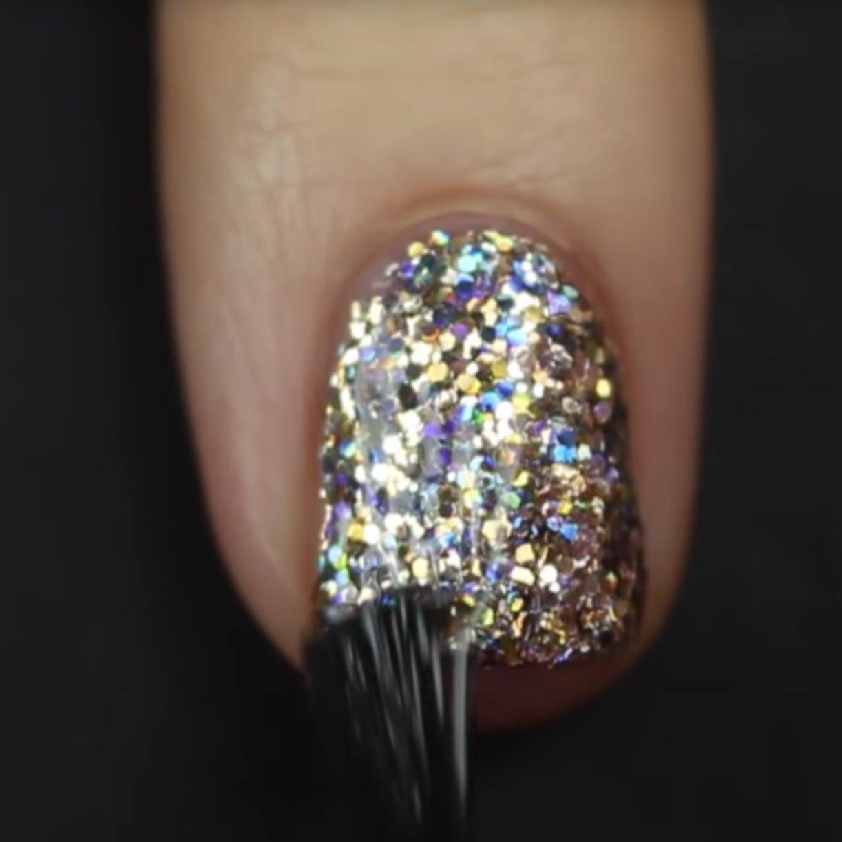 How to Apply Glitter Nail Polish | POPSUGAR Beauty