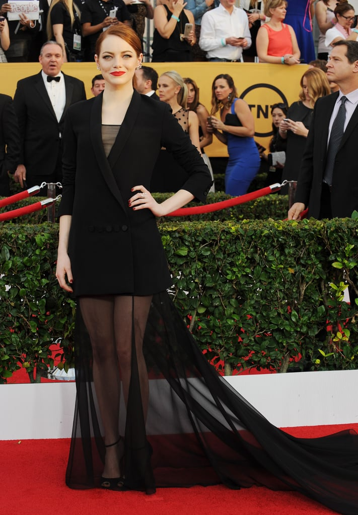 Emma Stone at the  2015 SAG Awards