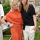 An elegantly-attired Amy Poehler posed with the hostess.