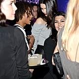 Jaden Smith, Kendall Jenner, and Kourtney Kardashian