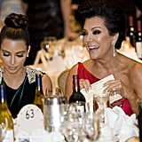 Kris Jenner and Kim Kardashian sat together at the White House Correspondant's Dinner.
