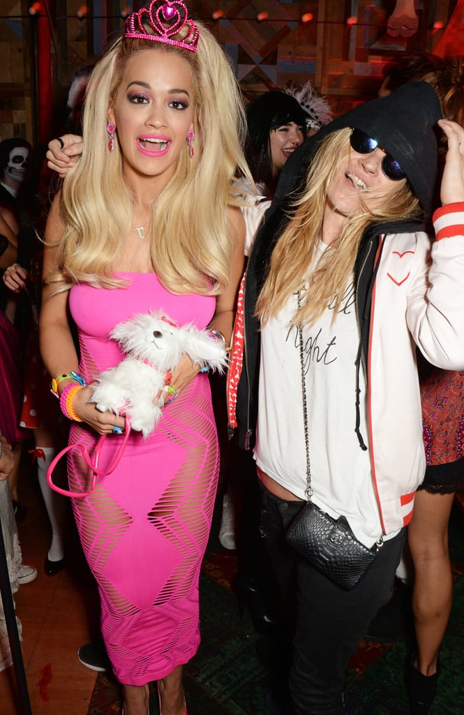 Rita Ora and Kate Moss had fun in London as Barbie and Cara Delevingne in 2014.
