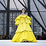 A Yellow Gown on the Carolina Herrera Fall 2020 Runway at New York Fashion Week