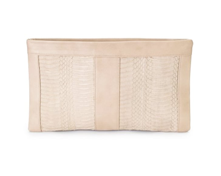 Isly Handbags Neelum Water Snake Clutch ($370)