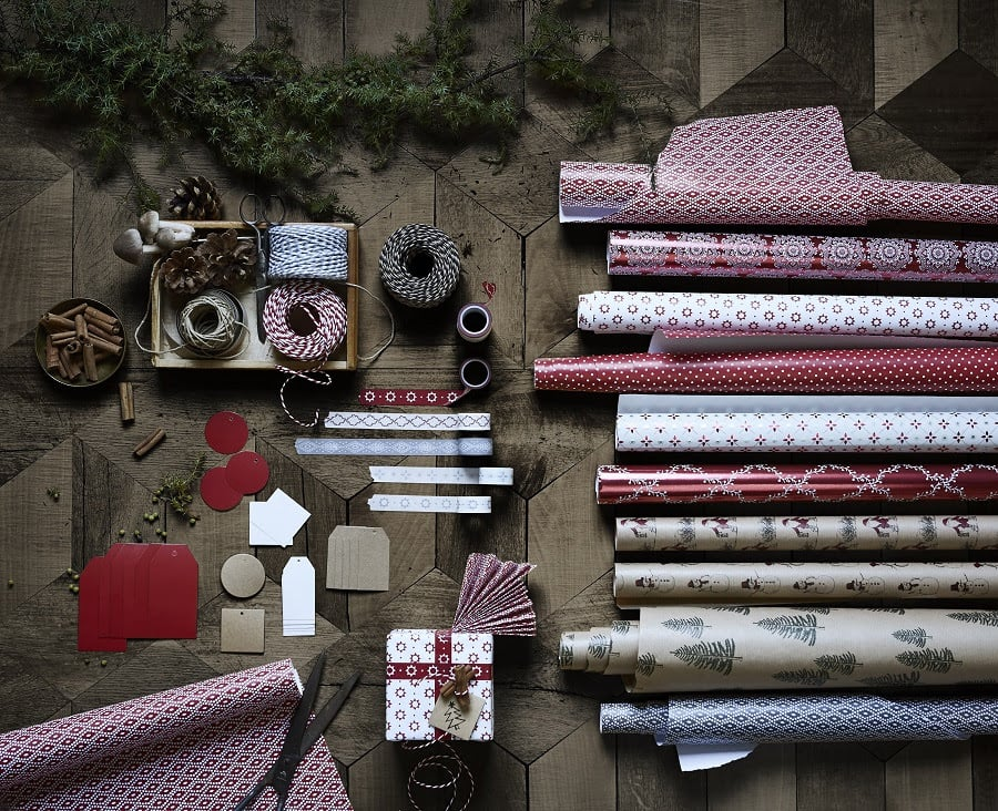 Everything in this picture costs below $6 each, so go crazy with your wrapping this year!
