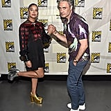 Pictured: Tessa Thompson and Taika Waititi at San Diego Comic-Con.