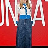 Margot Robbie Wearing Wide-Leg Jeans December 2018