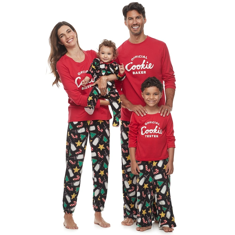Jammies For Your Families Milk & Cookies Family Pajamas