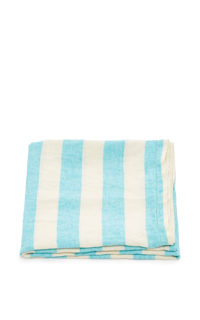 Turquoise and White Towel