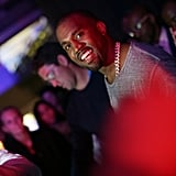 """In June 11, famous friends like Beyoncé, Jay Z, Aziz Ansari, and Timbaland came out in NYC for a Yeezus listening party. That same week, he told a crowd at the Governors Ball Music Festival: """"I have an idea on how to sell more music — it's called make better music."""""""