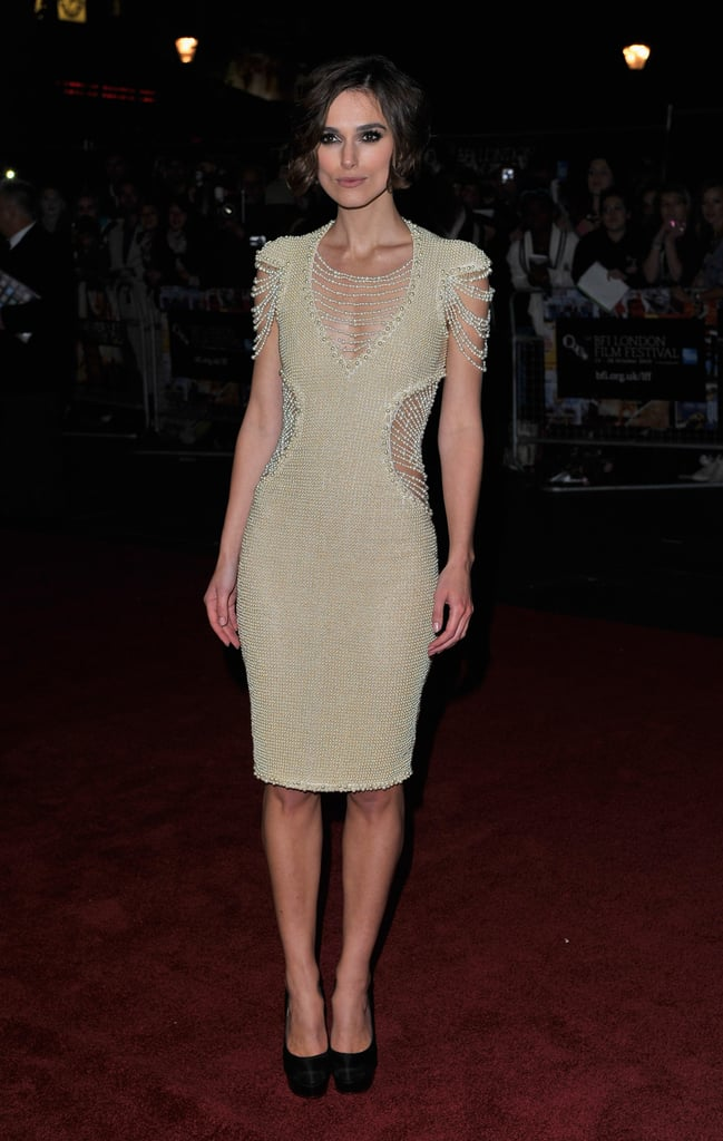 Keira Knightley's Chanel Couture beaded number was made even more classy thanks to the longer hemline.