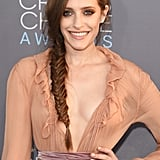 "Mr. Robot's Carly Chaikin wore her braid with pieces plucked from the plait, perfect for a ""just romped in the hay"" look."