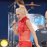 Gwen Stefani rocked the stage in a sheer shirt as she and No Doubt performed their first new single in more than a decade on Good Morning America in July.
