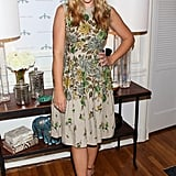 Busy Philipps posed for a photo with two lamps she was donating.