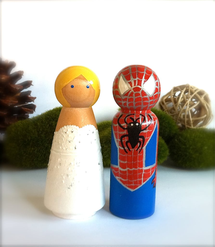 Spider-Man and Mary Jane Cake Toppers ($65)