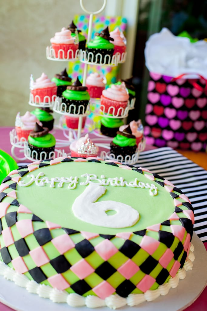 A Braided Green and Pink Cake