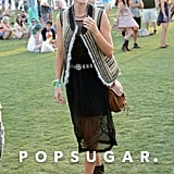 Kate Bosworth showed her festival style.