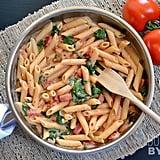 Creamy Tomato-Spinach Pasta