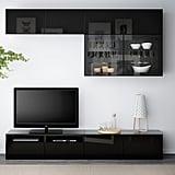 Bestå TV Storage Combination With Glass Doors