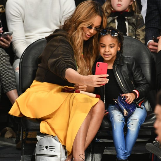 Blue Ivy Crashes Beyoncé's Icy Park Photo Shoot | Video